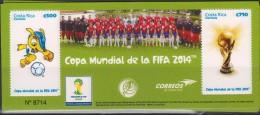 E)2014 COSTA RICA, FIFA WORLD CUP BRAZIL, FOOTBALL, TEAM, COSTARICENSEE SELECTION, SOUVENIR SHEET, MNH - Costa Rica