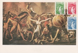 Yvert  N° 2154 + 2155 + 2156  FDC Carte Maximum Sabine Paris 1/9/1981 - Maximum Cards