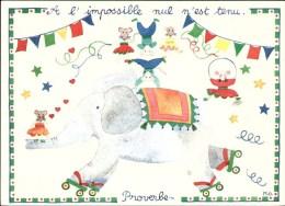 Cartes D'Art - Monique Gauriau - A L'impossible Nul N'est Tenu - M.GAU 92 - Y-2 - Belle-Arti