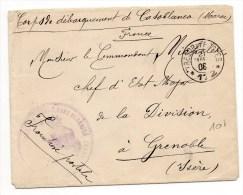1908 - ENVELOPPE Des CORPS DE DEBARQUEMENT De CASABLANCA Avec TàD TRESOR ET POSTES 172 - Marruecos (1891-1956)