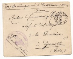 1908 - ENVELOPPE Des CORPS DE DEBARQUEMENT De CASABLANCA Avec TàD TRESOR ET POSTES 172 - Briefe U. Dokumente