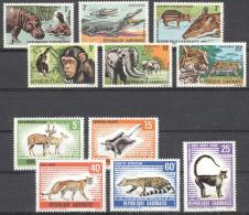 Gabon 1966 - MNH - Antilope, Chimp, Elephants, Hippo - Francobolli