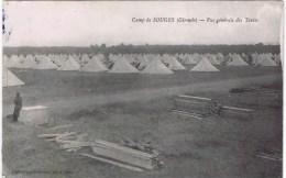 Cpa   CAMP DE SOUGES   Vue Generale Des Tentes  ( AU DOS TAMPON MILITAIRE) - France