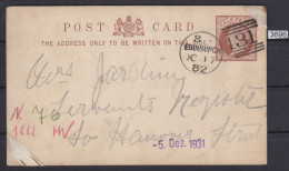 GREAT BRITAIN 1882, CARTE POSTALE, FROM EDINBURGH 17. OCT. 1882 TO HANNOVER, GERMANY, See Scans - Interi Postali