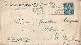 Enveloppe -  Cachet  Au  Depart  De  NEW YORK   à  Destination  De  NEUILLY   (  Seine  ) - Amérique Centrale