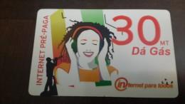 Mozambique-internet Pre-paga-(30mt)-da Gas-mint Card+2card Prepiad Free