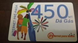 Mozambique-internet Pre-paga-(450mt)-da Gas-mint Card+2card Prepiad Free - Mozambique