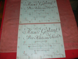 LIVRE ART EROTIQUE DU XVIII  LOT DE 2 ALBUMS /  MUSEE GALANT DU XVIII SIECLE / FRAGONARD / BOUCHER / BAUDOUIN / WATTEAU - Art
