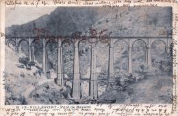 (48) Villefort - Pont De Bayard - 1903 - 2 SCANS - Villefort