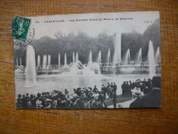 """Versailles , Les Grandes Eaux Au Bassin De Neptune """""""""""" Carte Animée """""""" - Versailles (Château)"""