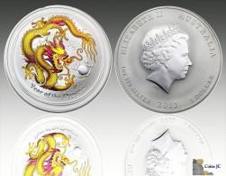 Australian Lunar - Year Of The Dragon - Silver Gilded Coin Edition - 2012 - Sin Clasificación