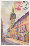 D21998 CARTE MAXIMUM CARD 1949 CZECHOSLOVAKIA - BRNO TOWN HALL CP ORIGINAL - Architecture