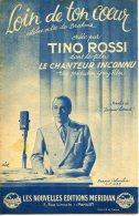 40 60 PARTITION TINO ROSSI LOIN DE TON COEUR FILM LE CHANTEUR INCONNU BRAHMS 1946 GUITARE ACCORDÉON - Music & Instruments