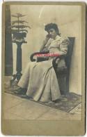 Identifiée Portrait De Solange CHARTREAU Début XXe Format 8 X 12,5cm - Alte (vor 1900)