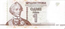 Transnistria - Pick 42b - 1 Ruble 2007-2012 - Unc - Banconote