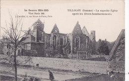 Ax - Cpa TILLOLOY - La Superbe Eglise Après Les Divers Bombardements (Guerre 1914-1915) - Autres Communes