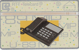 BELGIUM - Telephone, U 89 MIP(20 Units), CN : 106F, Used - Belgium
