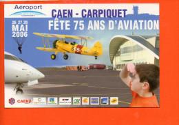 Aviation - Caen Carpiquet Fête 75 Ans D'aviation - Mai 2006 (timbre Bécassine) - Meetings