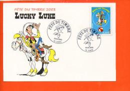 TIMBRE - Fête Du Timbre 2003 - Lucky Luke - Timbres (représentations)