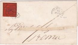 SI53D Italia Stato Pontificio Lettera Viaggiata 1868 Civitavecchia 10 C, Con Annullo A Griglia - Stato Pontificio