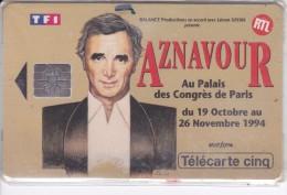 TARJETA DE FRANCIA DE AZNAVOUR DE TIRADA 15000 (NUEVA-MINT) - Francia