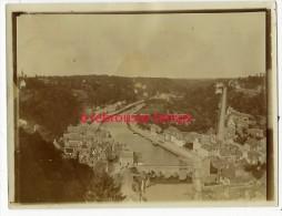 En 1900 Photographie Albuminée  De Dinan Vue De La Rance Format 12 X 9cm - Lieux