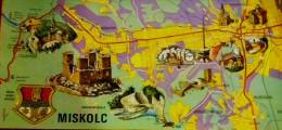 HUNGARY / MISKOLC MAP POSTCARD LONG - Otros