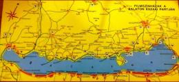 HUNGARY / NORTH BALATON - CINEMAS 1980' MAP LONG POSTCARD - Andere