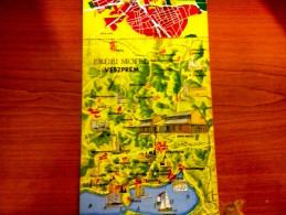 HUNGARY / WOOD MOTEL - VESZPRÉM MAP LONG POSTCARD - Andere