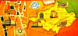 HUNGARY / NYÍRFA ARUHAZ - NYÍREGYHAZA 1980'S LONG MAP POSTCARD - Andere