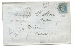 Seine - Paris Gare D'Ivry Pour Vire. GC + CàD Type 17 - 1849-1876: Classic Period