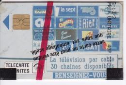 TARJETA DE MONACO DE LA TELEVISION PAR CABLE DEL AÑO 1991 (NUEVA-MINT) - Mónaco