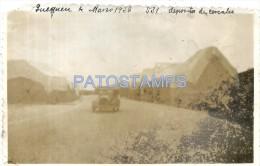 31719 ARGENTINA QUEQUEN BS AS DEPOSITOS DE CEREALES YER 1938 CUT CORNER PHOTO NO POSTAL POSTCARD - Argentinien
