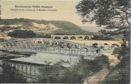 LIVERDUN - 54 - CPA COLORISEE - Perspective Des 3 Ponts Sur La Moselle - ENCH1202 - - Liverdun