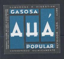 Label Of Gas AHÁ.Étiquette De AHÁ De Gaz. Tasty And Digestive Drink.lecker Und Digestif.Soda. - Limonades