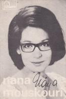 PHOTO Dédicacée De La Chanteuse Nana MOUSKOURI (Souvenir Du Samedi 9 Septembre 1967 Au Parc Des Expositions D' Orléans) - Signed Photographs
