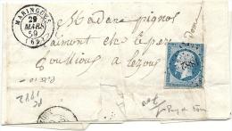 Puy De Dome - Maringues Pour Lezoux. PC + CàD Type 15 - 1849-1876: Classic Period