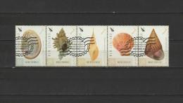New Zealand 2015 Native Seashells Strip Of 5 CTO - Conchas