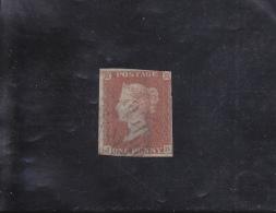 VICTORIA 1 P ROUGE-BRUN S/AZURé  OBLITéRé N°3 YVERT ET TELLIER 1841 - Oblitérés