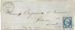 Puy De Dome - Courpierre Pour Gien (Loiret). PC + CàD Type 15 - 1849-1876: Classic Period