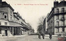 21 DIJON  Boulevard Sévigné Gare Des Tramways Départementaux. Animée - Dijon