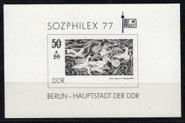 """Block Mi-Nr. 48 S, """" SOZPHILEX 77 """" SCHWARZDRUCK, Perfekt  !! 13.9-01"""