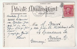 1908 USA Stamps COVER (postcard Onomea Arch) HONOLULU FLAG CANCEL Pmk To Berlin GERMANY - Etats-Unis