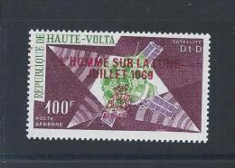 Apollo 11. Lunar Landing On 20/7/1969. Stamp Haute-Volta Overload 'L'Homme Sur La Lune Jullet 1969'. Rare. - Africa