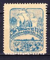 ESPAGNE - 1936-37 - CONSEJO DE ASTURIAS Y LEON YT N° 6 BLEU VERT ** N° AU VERSO - Asturies & Leon