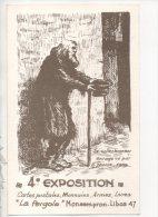 """47 - MONSEMPRON-LIBOS """" LA PERGOLA """". 4eme EXPOSITION CARTES POSTALES, MONNAIES. H. DAOUSE ILLUSTRATEUR - Réf. N°14706 - - Bourses & Salons De Collections"""