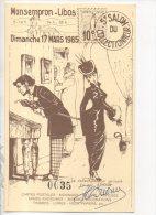 47 - MONSEMPRON-LIBOS . 5eme SALON COLLECTIONNEUR . N°0035 SIGNATURE DE H. DAOUSE ILLUSTRATEUR - Réf. N°14707 - - Bourses & Salons De Collections