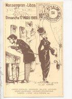 47 - MONSEMPRON-LIBOS . 5eme SALON COLLECTIONNEUR 17 MARS 1985 . HENRI DAOUSE ILLUSTRATEUR - Réf. N°14708 - - Bourses & Salons De Collections