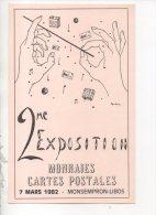 47 - MONSEMPRON-LIBOS . 2eme EXPOSITION MONNAIES, CARTES POSTALE . 7 MARS 1982 - Réf. N°14709 - - Bourses & Salons De Collections