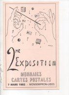 47 - MONSEMPRON-LIBOS . 2eme EXPOSITION MONNAIES, CARTES POSTALE . 7 MARS 1982 - Réf. N°14710 - - Bourses & Salons De Collections